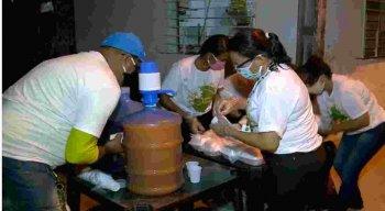 Ao todo, 450 quentinhas foram distribuídas na Comunidade Cabo Gato