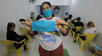 Máscaras caseiras foram entregues pela campanha Atitude Cidadã: Está em Nossas Mãos