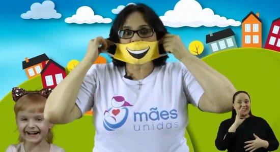 Ministra Damares faz concurso infantil de melhor máscara e prêmio é conhecê-la junto com primeira-dama Michelle Bolsonaro