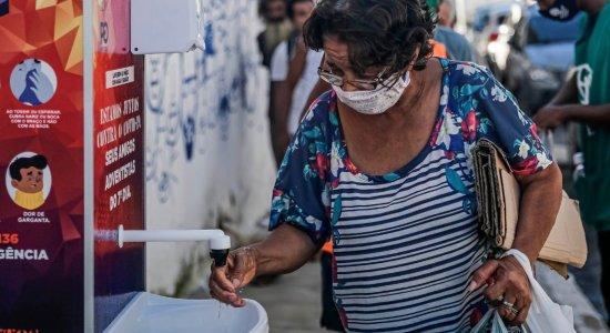 Coronavírus: Recife ganha pias para atender pessoas em situação de rua