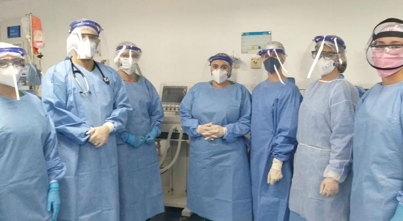 Equipe exclusiva irá atuar no atendimento aos pacientes com a covid-19