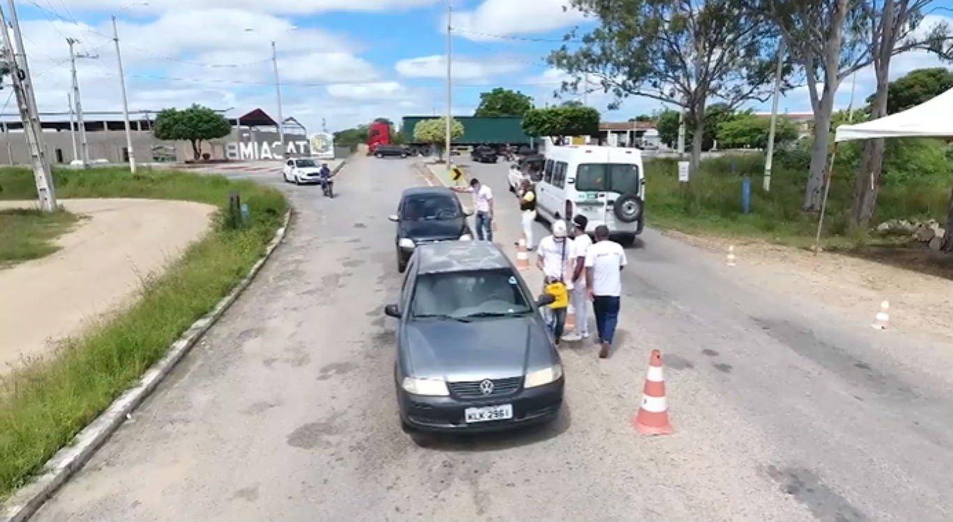 Barreiras sanitárias atuam em Tacaimbó, no Agreste