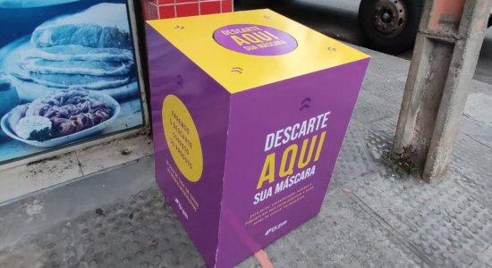 Comunidades ganham pontos de coletas de máscaras no Recife