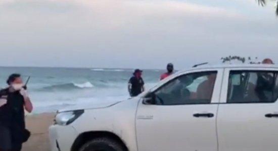 Turista é preso após descumprir quarentena e entrar no mar em Ipojuca