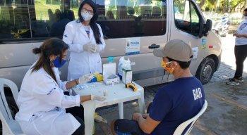 A Secretaria de Saúde de Olinda, através do Consultório de Rua, fez 20 testes nas pessoas de situação de rua nos bairro do Carmo, Varadouro e Cidade Alta, na manhã desta quarta-feira (03.06)