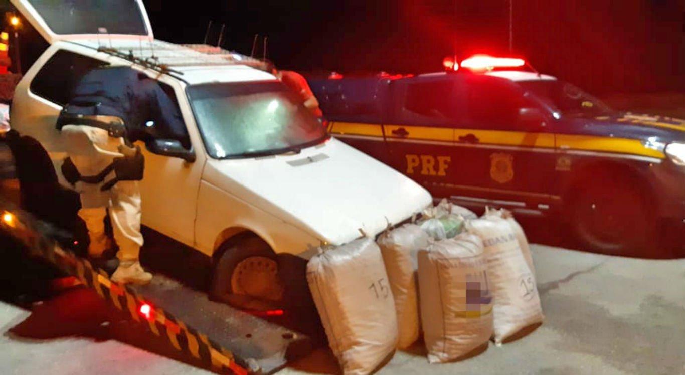 Maconha foi apreendida dentro de veículo em São Caetano