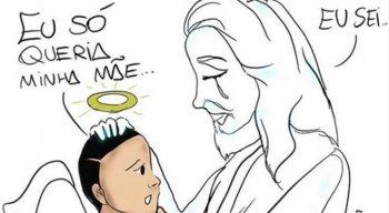 A ilustração feita pelo cartunista carioca Kinho emocionou os internautas