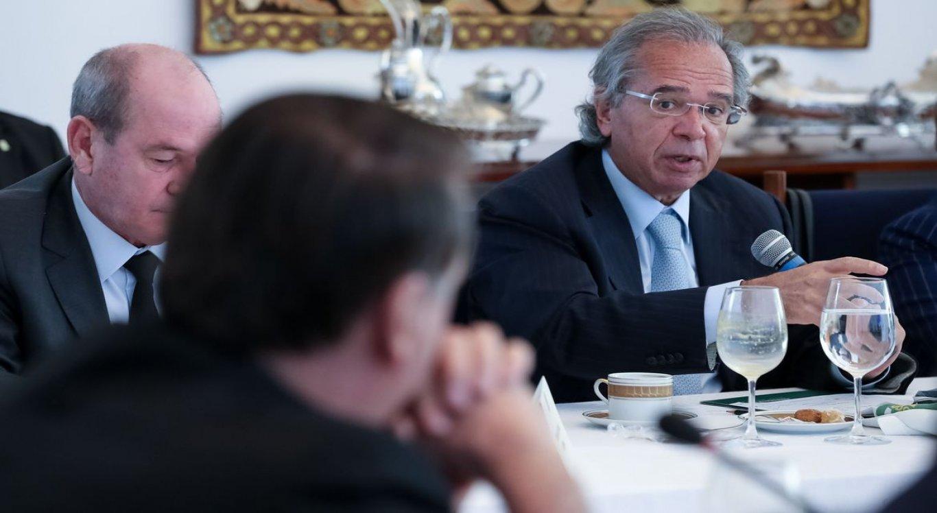 Ministro da Economia, Paulo Guedes, durante reunião ministerial