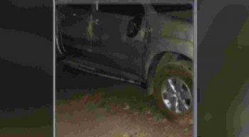 O veículo em que a vice-diretora estava ficou com marcas dos tiros