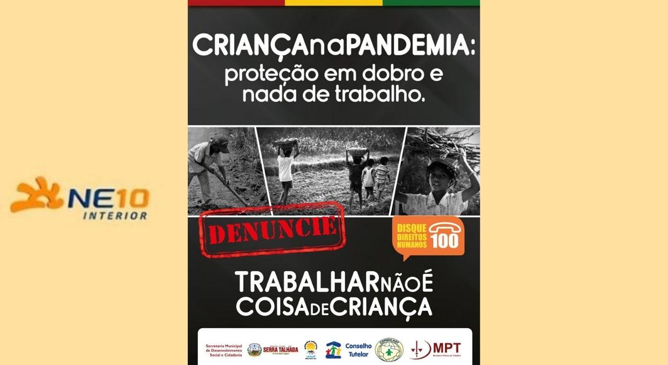 Campanha contra o trabalho infantil em Serra Talhada