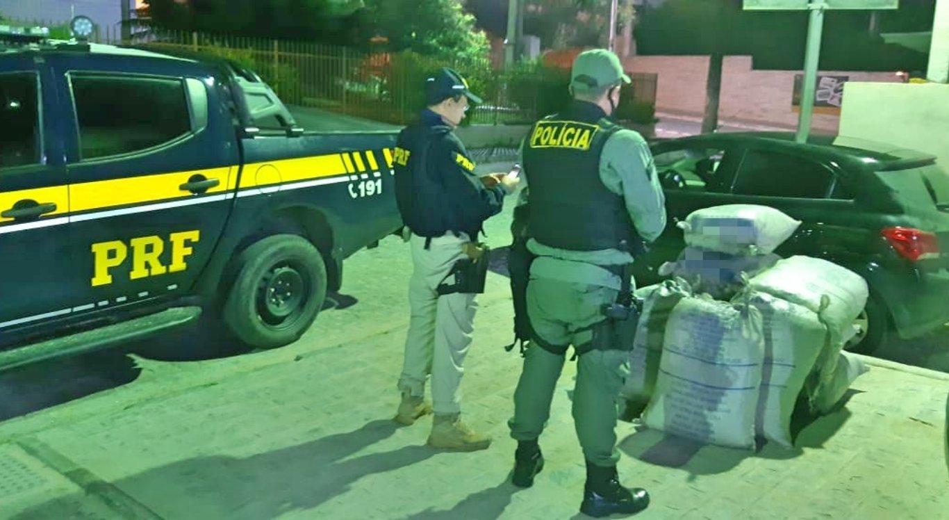 Motorista de aplicativo é detido com 149 Kg de maconha em Gravatá