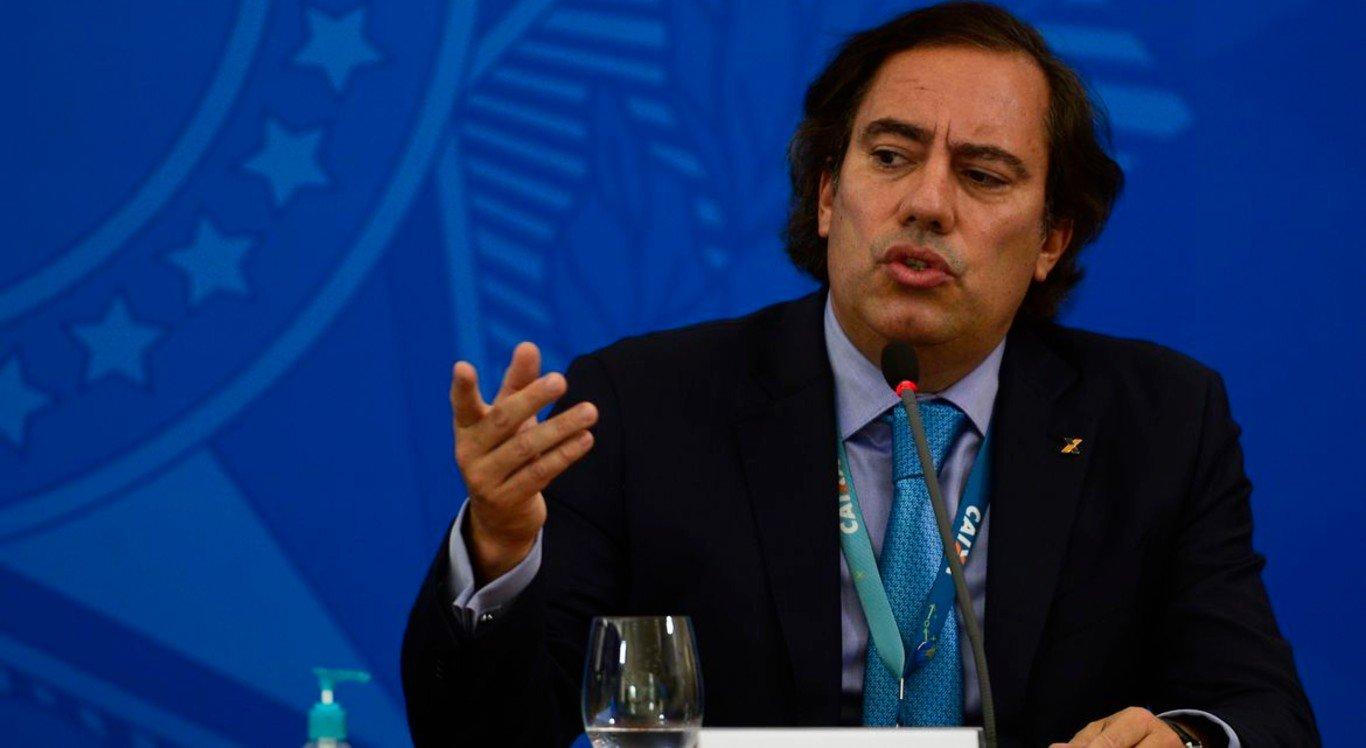 Pedro Guimarães, presidente da Caixa Econômica Federal, apresentou os detalhes da linha de crédito para micro e pequenos empresários
