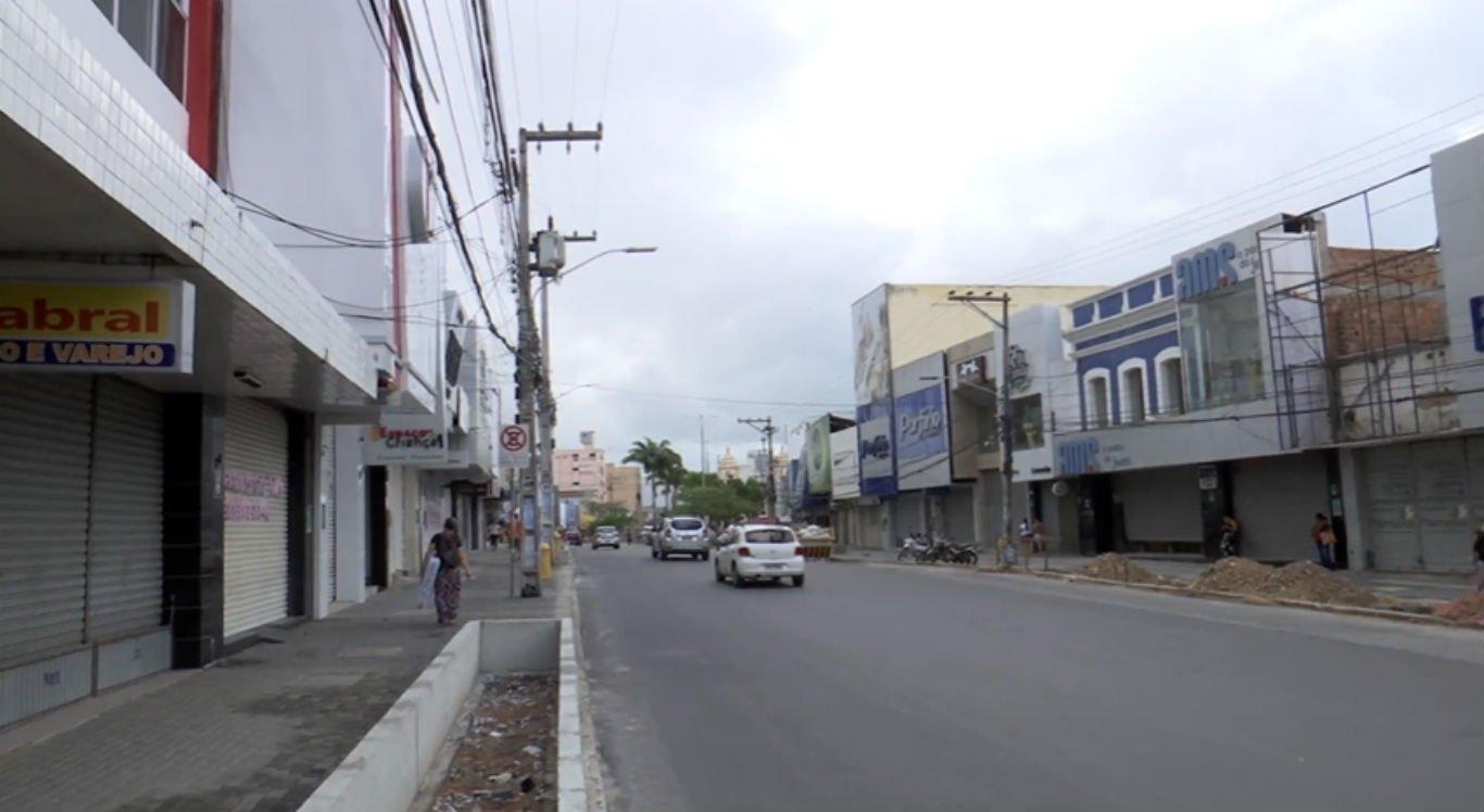 Comércio de Caruaru segue fechado, assim como o de outras 84 cidades