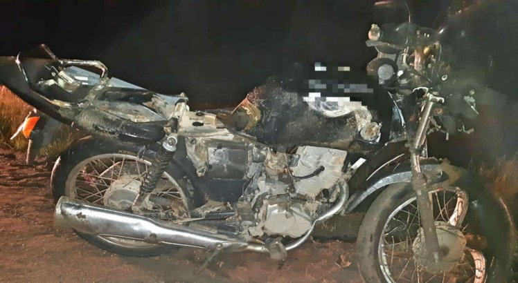 Motociclista não resistiu e morreu no local do acidente
