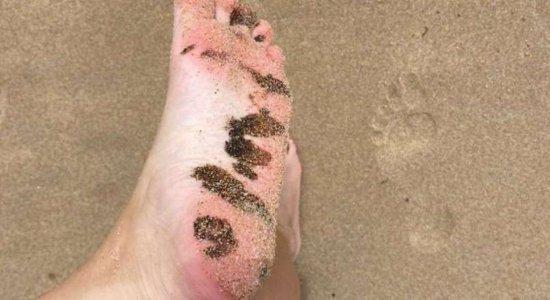 Óleo volta a aparecer em praias do Litoral Sul de Pernambuco