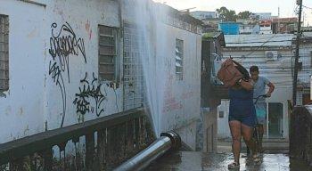 Cano estourado em Jaboatão dos Guararapes