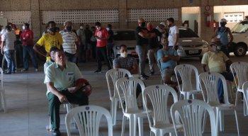 A concentração foi às 8h, na sede do Sindicato dos Rodoviários
