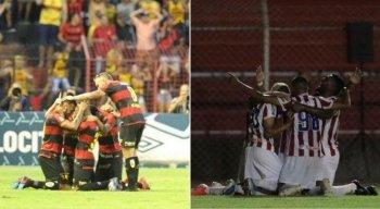 O Sport e Náutico disputam Série A e B, respectivamente.