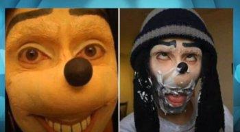 Os criminosos usam fotos que remetem ao personagem Pateta, da Disney