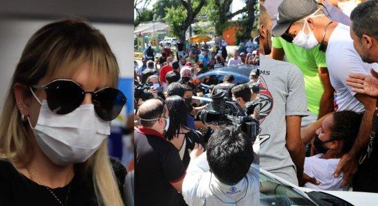Polêmica, tumulto e espera da mãe de Miguel: tudo o que aconteceu durante depoimento de Sarí no Recife