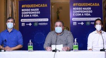 Coletiva de imprensa do Governo de Pernambuco nessa segunda-feira (30)