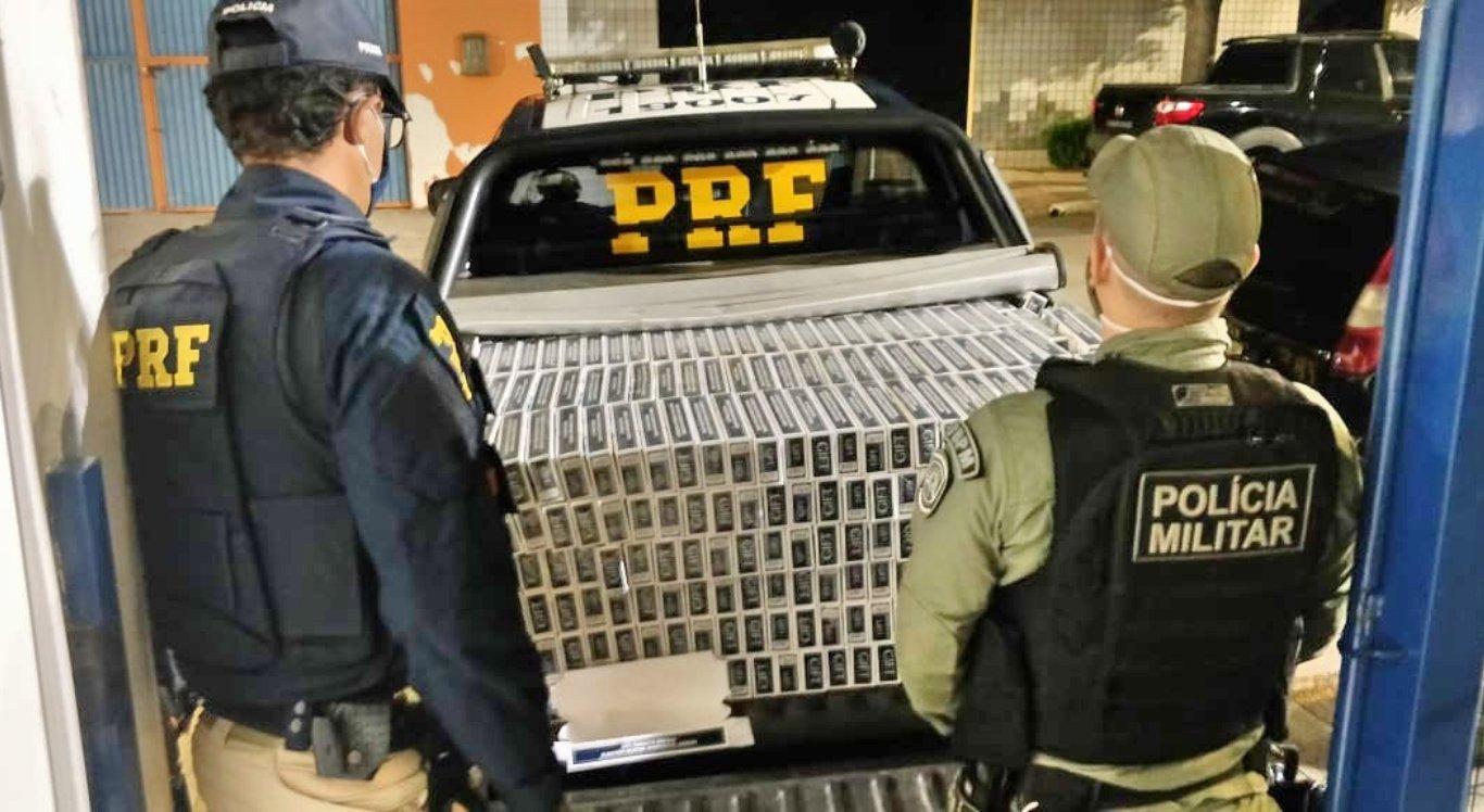Primos são detidos ao transportar 17,4 mil maços de cigarro em São Caetano
