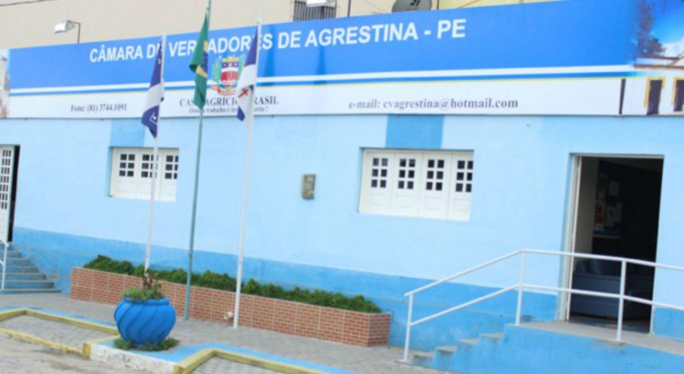 Processo ocorre na Câmara Municipal de Agrestina