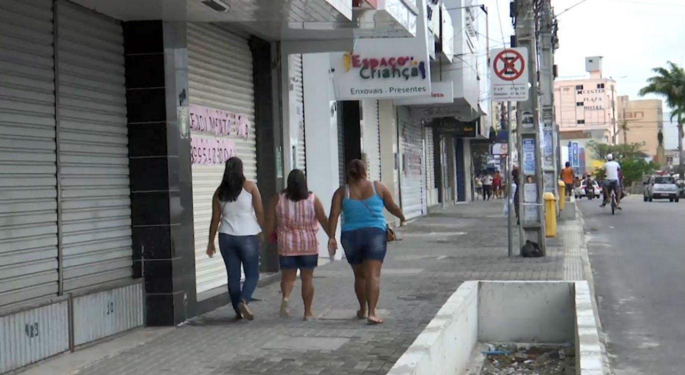 Comércio varejista continua fechado em Caruaru