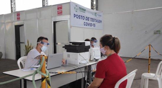 Posto para testagem do coronavírus é instalado no Ceasa