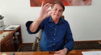 Presidente Jair Bolsonaro gravou vídeo tomando a hidroxicloroquina