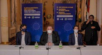 Coletiva online do Governo de Pernambuco sobre a retomada das atividades
