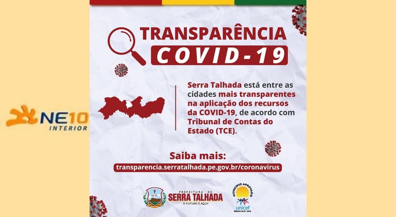 Serra Talhada ficou entre cidades mais transparentes