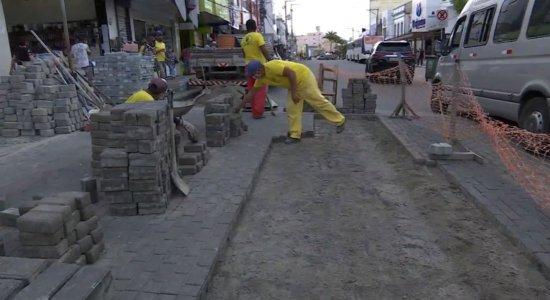 Obras de requalificação no centro de Caruaru