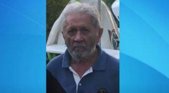 O idoso está desaparecido e a família pede ajuda para encontrá-lo