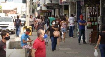 Comércio voltou a funcionar há cerca de uma semana em Caruaru