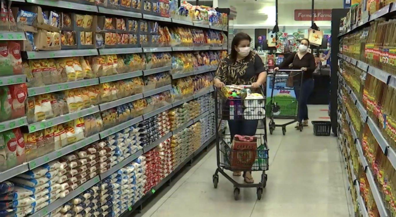 Produtos nos supermercados sofreram aumento nos preços