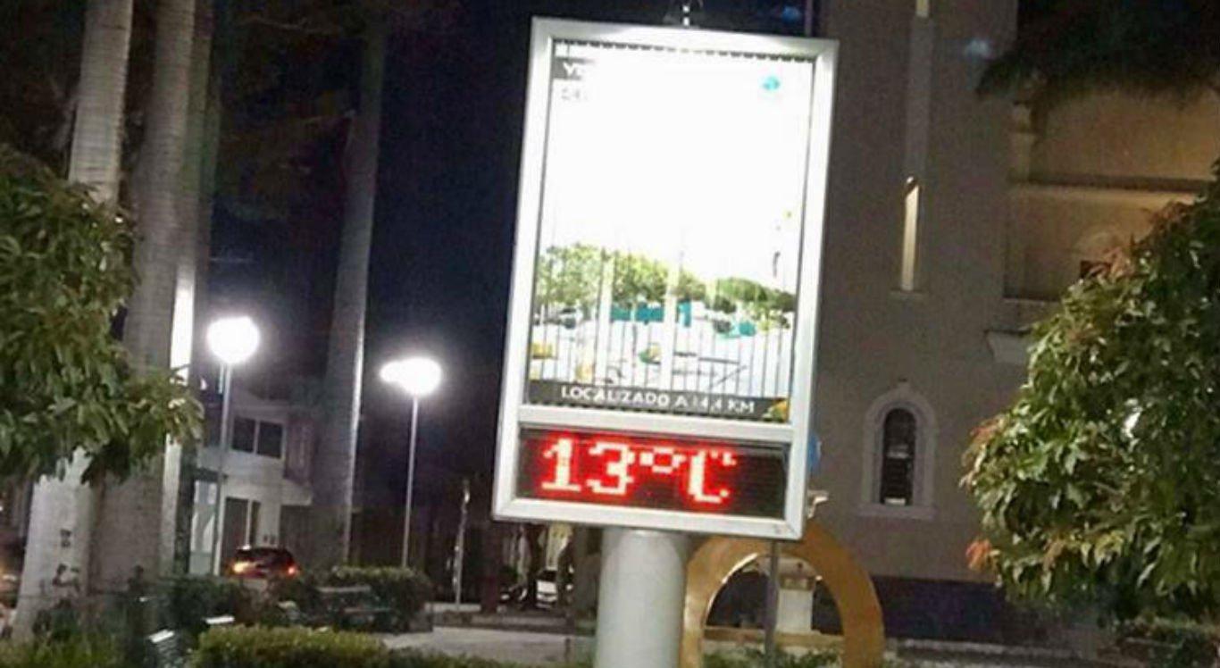 Termômetros registraram 13°C em Taquaritinga do Norte