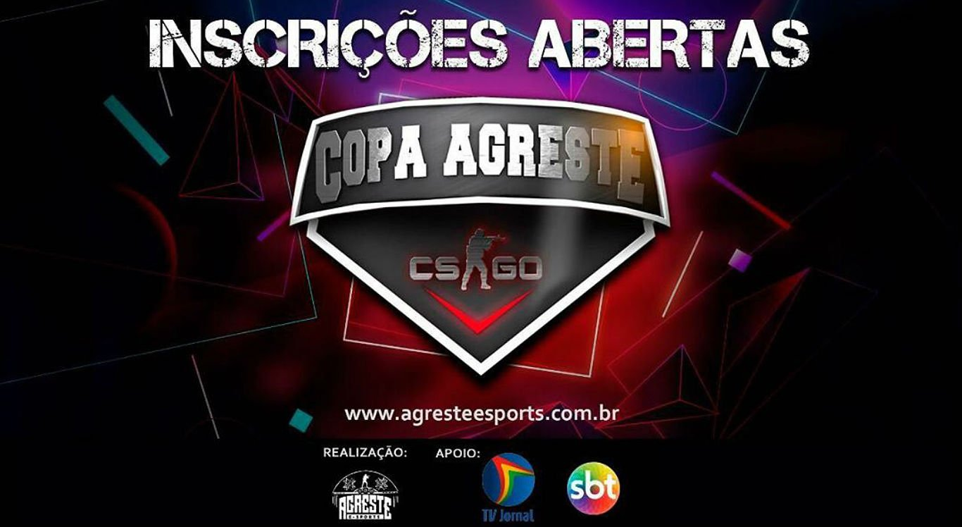 Inscrições da Copa Agreste CSGO estão abertas