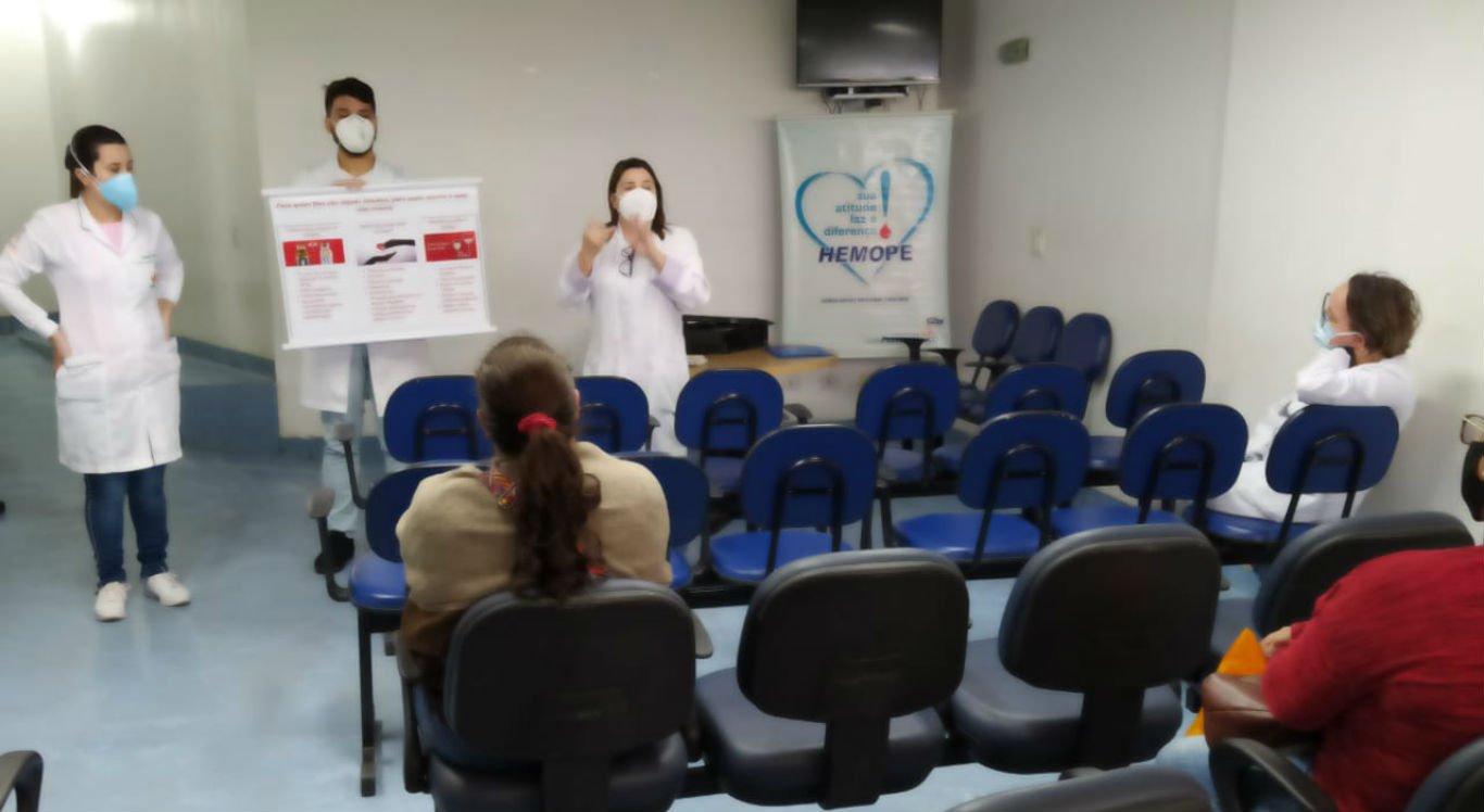 Campanha para estimular doação de sangue no HRA