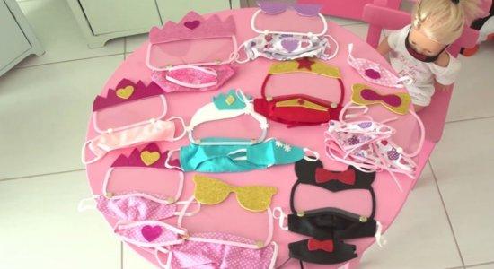 Máscaras de proteção para crianças