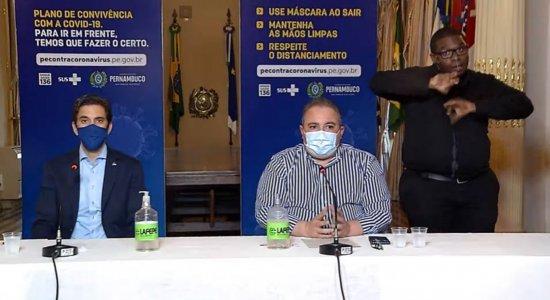 Secretário de Desenvolvimento Econômico, Bruno Schwambach, e secretário de Saúde, André Longo