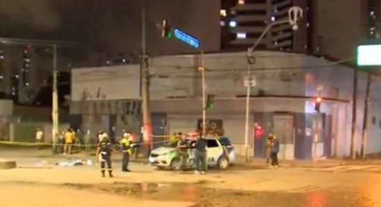 Ônibus passa por cima de motociclista caído e homem morre na Av. Norte