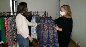 Renata e Ulla encontraram a saída do desemprego na abertura de um brechó