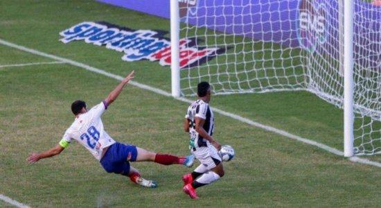 Com transmissão da TV Jornal, Bahia tenta reverter placar contra o Ceará na Copa do Nordeste