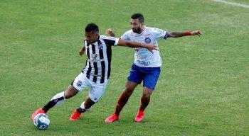O Bahia tentará reverter o placar contra o Ceará no jogo de volta da final da Copa do Nordeste 2020