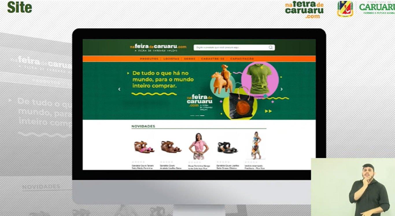 Site Na Feira de Caruaru