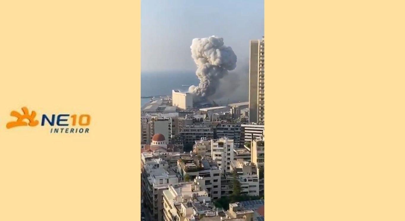 Explosão registrada no Líbano