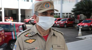 Tenente Werben Monteiro, do Corpo de Bombeiros