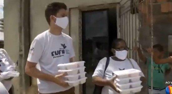 Ação de entrega de máscaras é feita na Comunidade do Vietnã, no Recife
