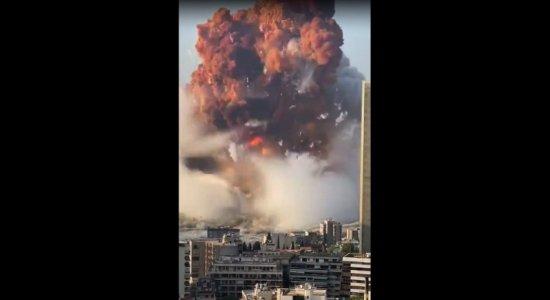 Explosão deixou feridos em Beirute, capital do Líbano